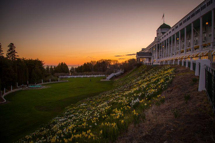Grand Hotel Sunset #sunset #daffodils #spring #vacation #unique #resort #summer #grandhotel #destinationwedding
