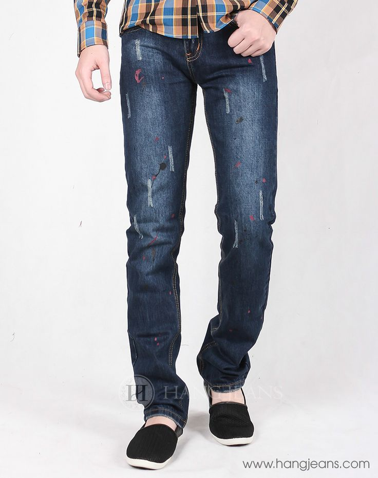 Hằng Jeans - Quần jeans vẩy sơn ống ôm 15T1210
