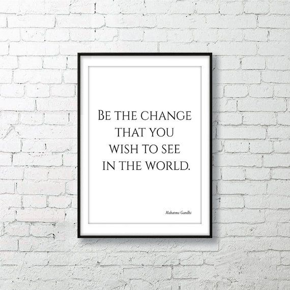 #Gandhi Inspirational Wall Art #Quote Poster Printable by #AskIlariaRomeo On Etsy