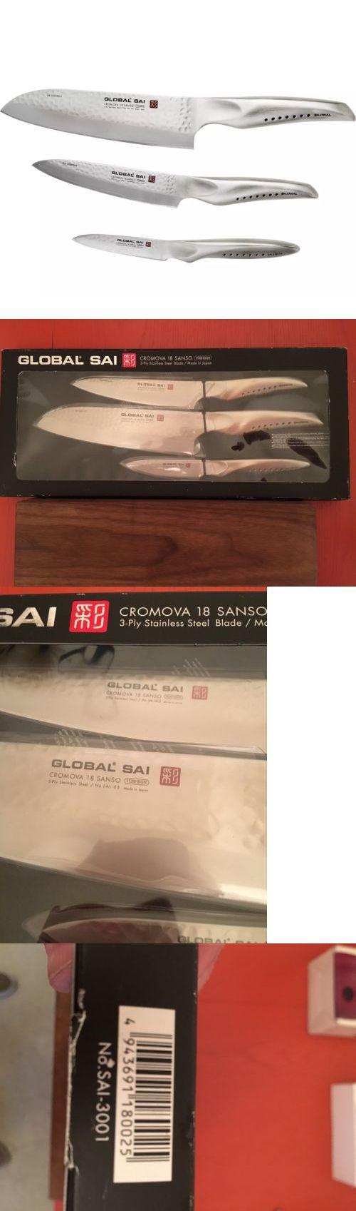 Knife Sets 42578: Global Sai-3001 3 Piece Knife Set, Silver -> BUY IT NOW ONLY: $199 on eBay!