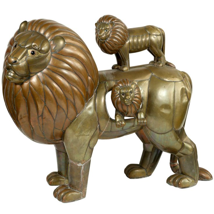 "Sergio Bustamante ""Group of Lions"" Sculpture 