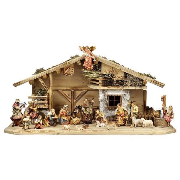 #szopka bożonarodzeniowa Ulrich - 24 figurki drewniane