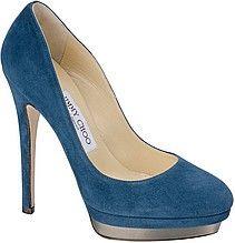 туфли, лодочки, женские, синие, замшевые, на высоком каблуке