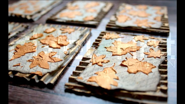 L'autunno - Mixed Media ATC series - Artist Trading Cards (start to fini...