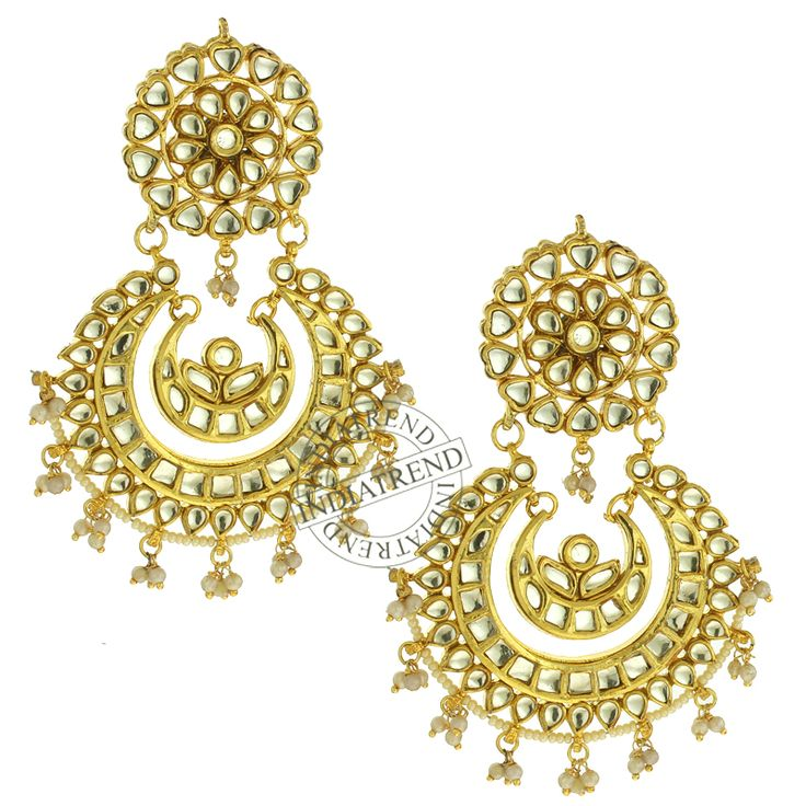 Our KIRAT EARRINGS  by Indiatrend. Shop Now at WWW.INDIATRENDSHOP.COM