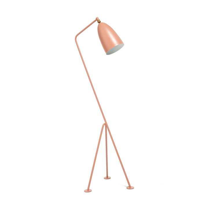 A stunning reissue of a 1940s design, Grasshopper is the masterpiece of Swedish designer, architect, and modernist Greta Magnusson Grossman. Its quirky tripod shape and conical head allow for directional light with minimal glare all in matte, powder-coated steel and aluminum.