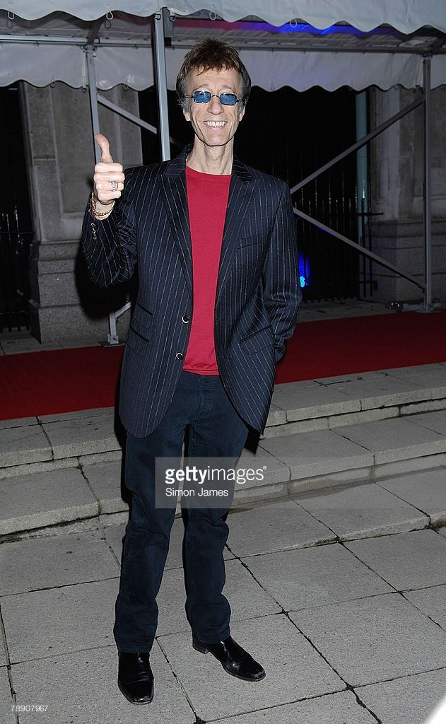 Robin Gibb arrives for the Undiluted Spirit Ball in Old Billingsgate on January 11 2008 in London,England.
