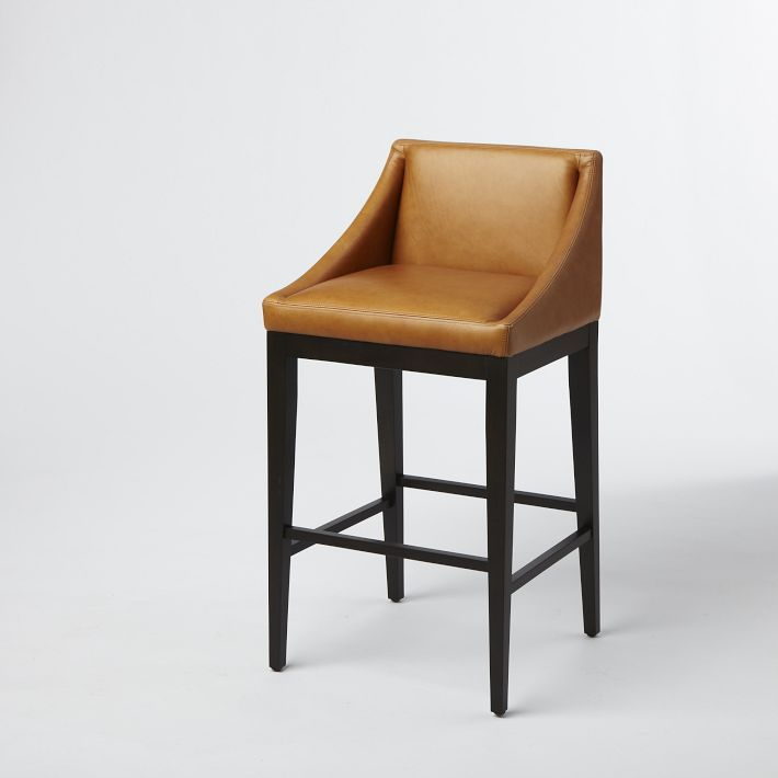 Curved Bar Counter Stools West Elm Furniture Modern