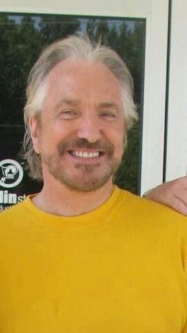 2012 - July - This is cropped out from a photo that originally had Alan Rickman, Cheetah & his son Rogan. From what the original photo said, it was taken during the time that Alan was filming CBGB.