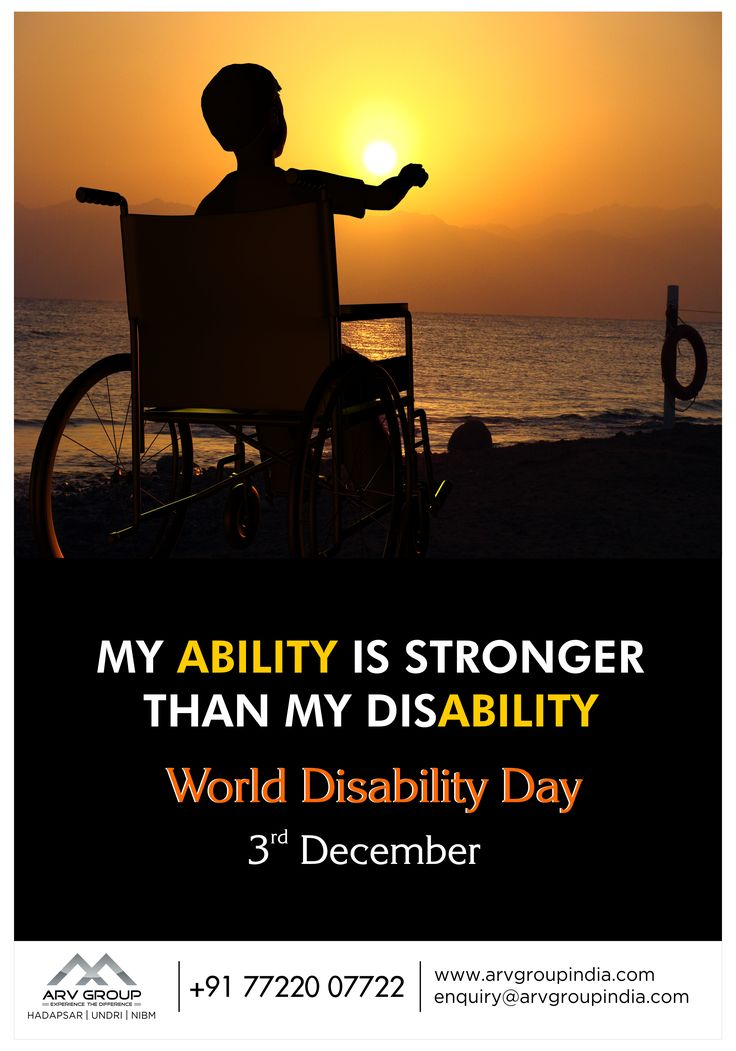 My ABILITY is stronger than my disABILITY ... #WorldDisabilityDay