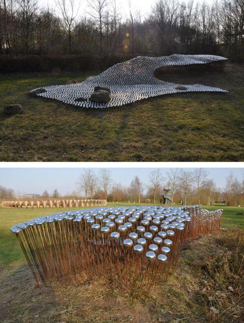 Ronald van der Meijs - 5000 Bicycle Bells Installation Sings With the Wind in the Netherlands - Sound Art Text