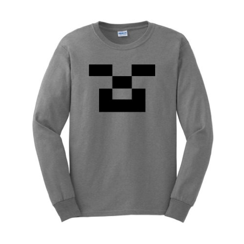 http://minecraftfamily.com  for the best minecraft toys! STEVE Minecraft Long Sleeve T-Shirt CREEPER Pickaxe Sword Monster Ghost Video Game PC Xbox 360 Rave 3D Indie Wii Funny Cool WoW Long Sleeve T-Shirt Large Sport Grey
