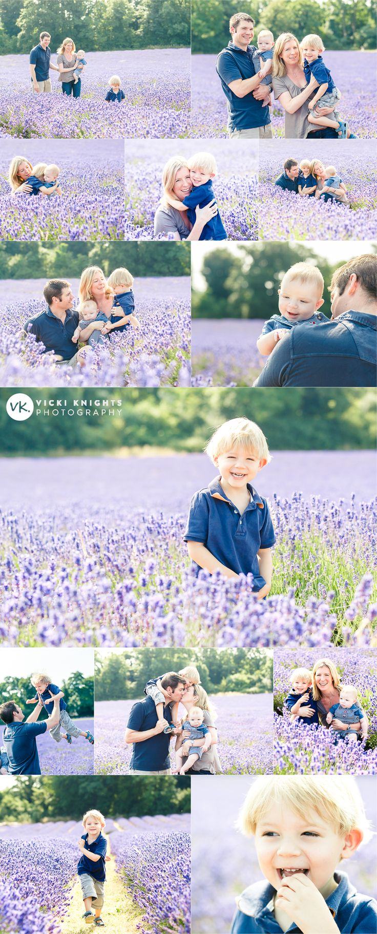 Family photo shoot in the lavender fields | Vicki Knights Photography