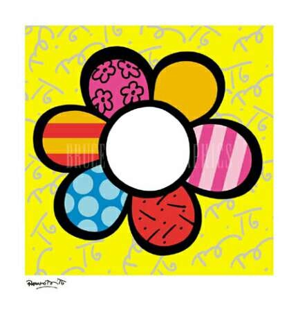 romero britto art - I think I could paint something fun in this style