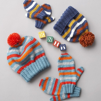 Download Free Pattern Details - Canadiana - Basic Hat and Mittens 4 Needles (knit) - Patons Yarn
