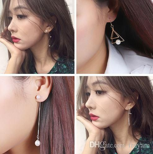 2017 South Korea Version S925 Silver Needle Pearl Earrings, Long Section Of South Korean Female Temperament Personality Tassel Earrings Anti Alle From Freyam, $8.25 | Dhgate.Com