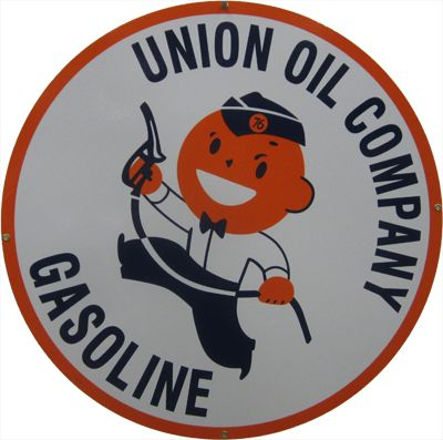 oil company signs | ... Car Cover - Limited Edition Union Oil Company Porcelain Sign