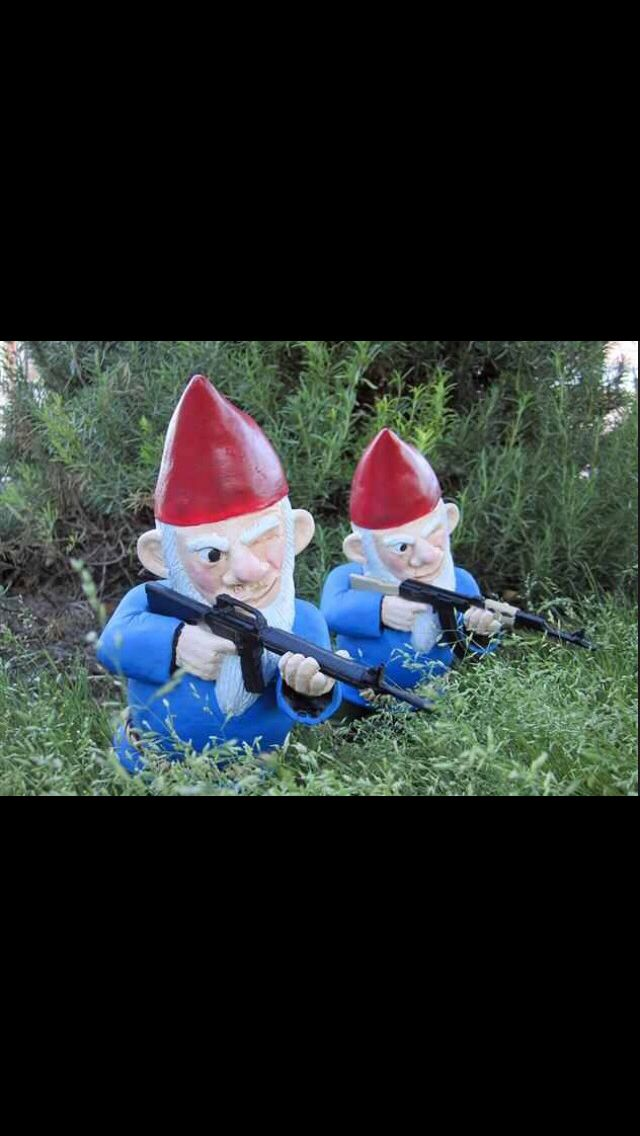 Keep Your Home Safe And Sound With These Combat Lawn Gnomes That Are Armed  With Rocket Launchers, And Grenades. Part 61