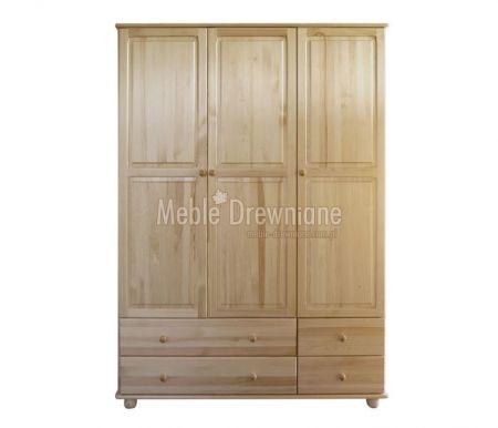 Szafa drewniana sosnowa na ubrania [4] Meble Drewniane - meble sosnowe producent, łóżka, komody, witryny