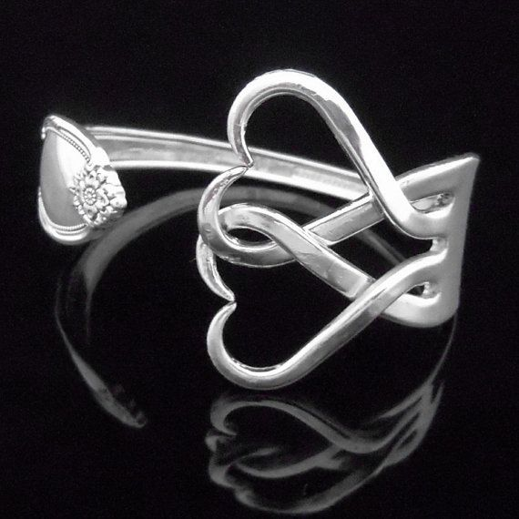 Fork+Bracelet+in+Intertwining+Hearts+Design+Number+by+MarchelloArt,+$29.99