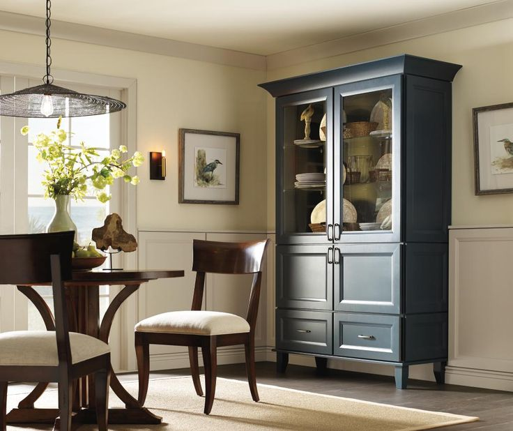 Dining Room Cabinets: Schrock's New Maritime Finish Is The Perfect Hue Of Blue