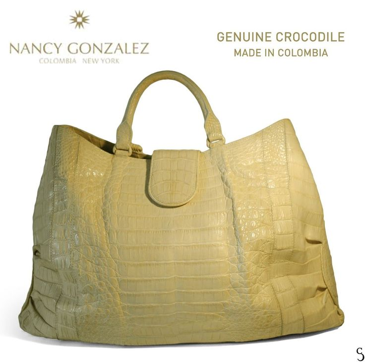 Nancy Gonzalez Genuine Crocodile Beige Cream Pearlescent Tote Shoulder Handbag in Clothing, Shoes & Accessories, Women's Handbags & Bags, Handbags & Purses | eBay
