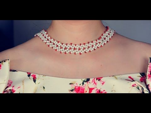 Pandahall Tutorial on How to Make Simple Pearl Beads Choker Necklace for Girls ~ Seed Bead Tutorials