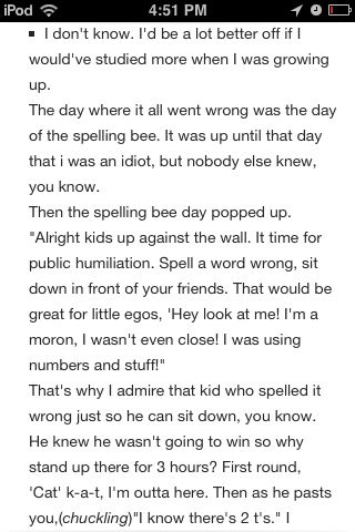 As a former spelling bee participant, this makes my sides hurt from laughing