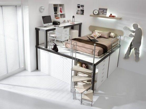 brown loft teenage beedroom : future bedroom for my little ones