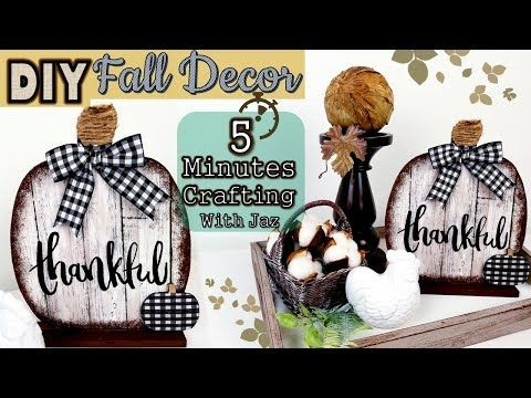 5 MINUTES CRAFTING | DOLLAR TREE DIY | FARMHOUSE FALL DECOR – YouTube