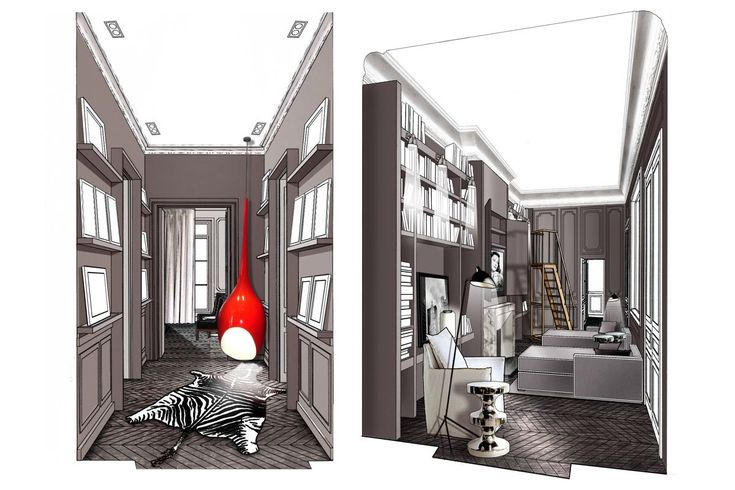77 best dessin images on Pinterest Interior sketch, Perspective