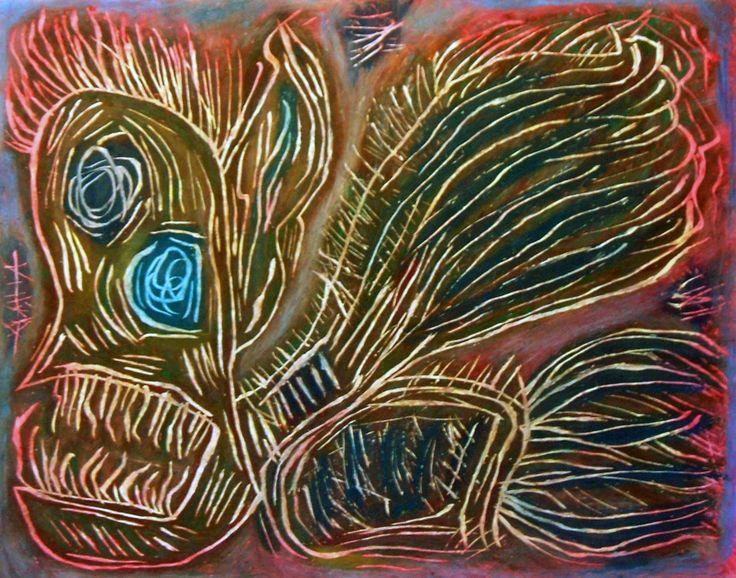 """""""Spettro macabro"""" 2012 Tecnica mista su cartoncino 38x48 ©Pietro Gargano"""