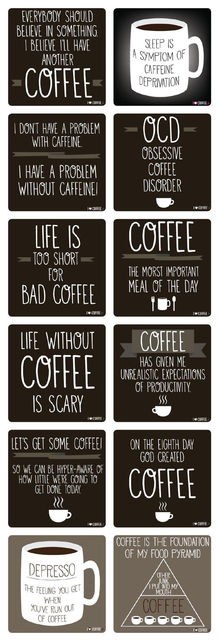 Coffee yay! Tea Nay....No Nien Nyet