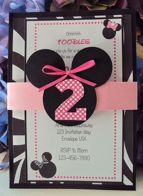 Cambiándolo a color azul, excelente para invitación de un niño.  https://www.etsy.com/listing/183870485/minnie-mouse-invitations-childrens