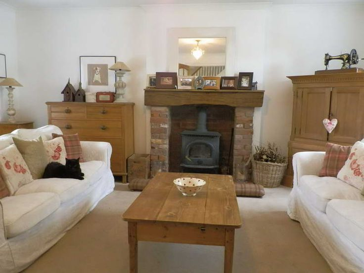 Shabby Chic Ideas Living Room With Fireplace Stoves