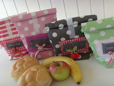 Lunchbag Nähanleitung: So ist das Oausenessen schön verpackt. http://gluecks-pilzchen.blogspot.de/2011/09/lunch-bag-tutorial.html