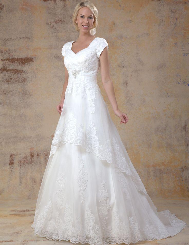 WDZ7015 Plus Size Vintage Wedding Dresses Floor Length Romantic Vestidos de Noiva Longo with Short Sleeve for Pregnant Women