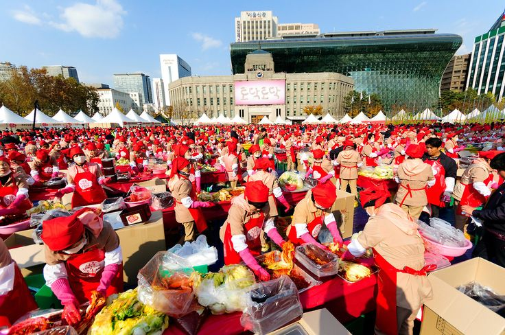 The Seoul Kimchi Making and Sharing Festival brings together volunteers to reinvent Korea's kimjang tradition as a cultural event. Robert Koehler Travel Photography