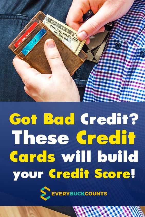 Best Credit Cards For Bad Credit 2019 With Images Secure