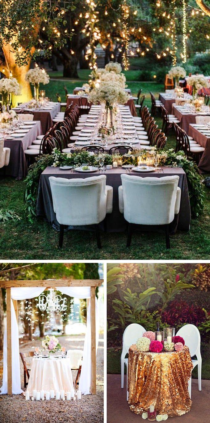 Outdoor wedding reception head table adorned with gorgeous ...  |Outdoor Wedding Reception Head Table