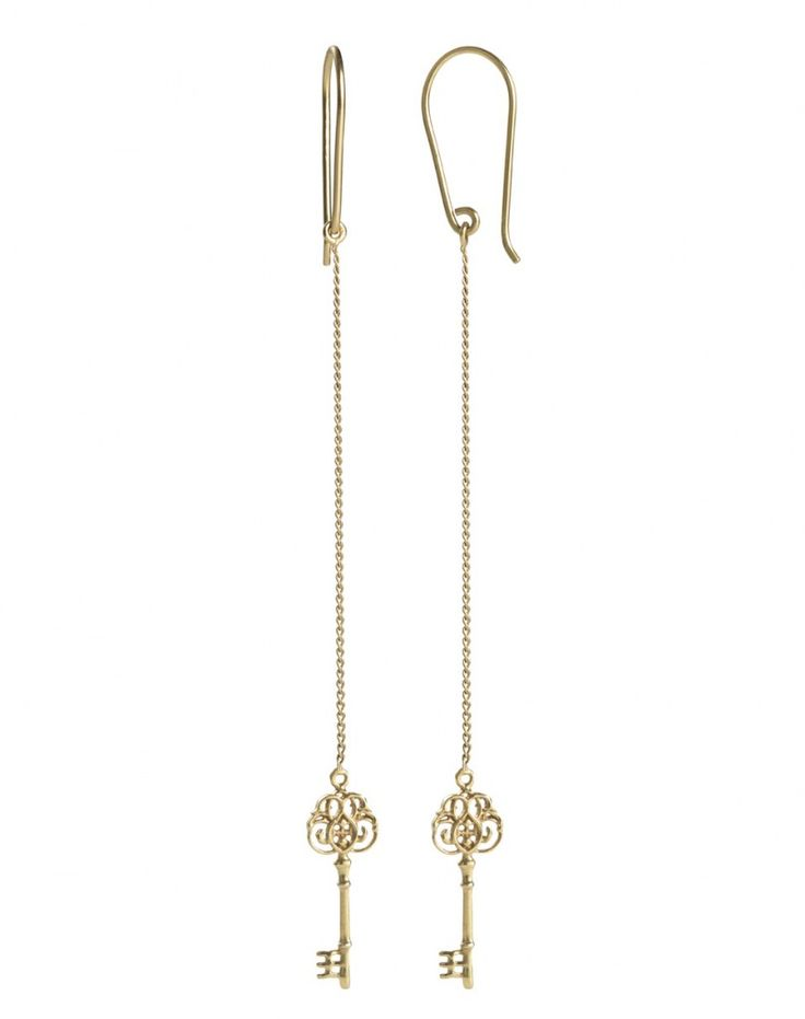 Key earrings from Kinz Kanaan. NSK