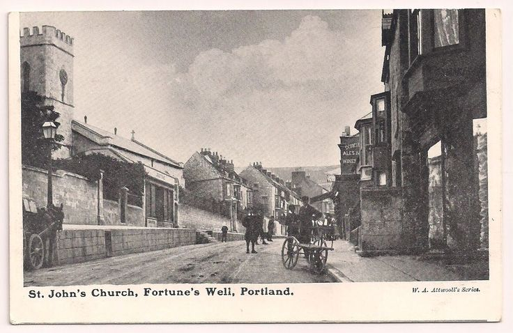 Dorset postcard Weymouth Portland St john s Church Fortune s Well