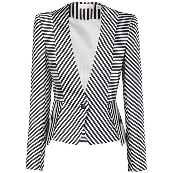 Sharp shouldered, tailored jacket in a lush jacquard print with multi direction stripes creating chevron & geometric patterns. Jacket is clenched at the waist …