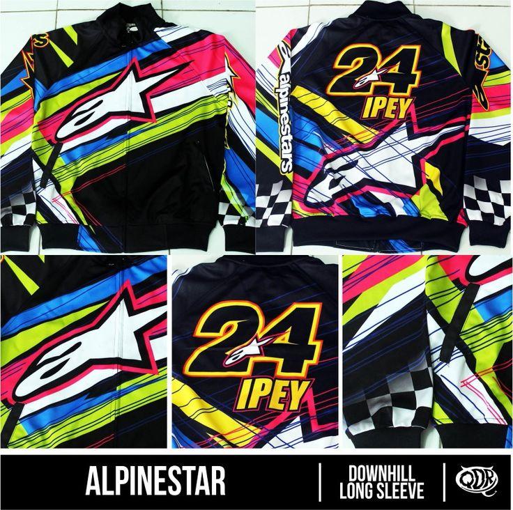 Jaket Long Sleeve Alpinestar Sublimation Print