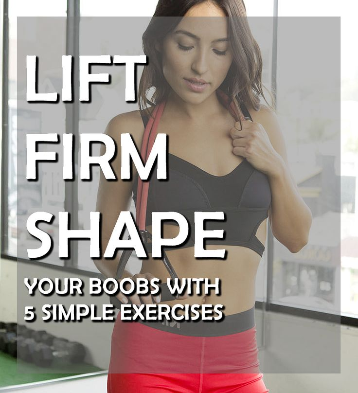 5 Simple Exercises to Get Boobs you Always Wanted #exercises #fitness #boobs
