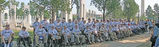 Honor Flight Trip - Click for full size image  The story is linked- a terrific group whose aim is to take as many ww2 vets to see their memorial as we are losing @900 Dailey!!!