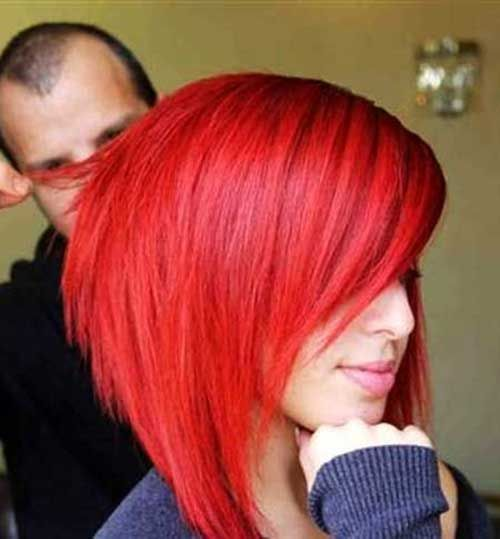 Bright Red Asymmetric Bob                                                                                                                                                                                 More