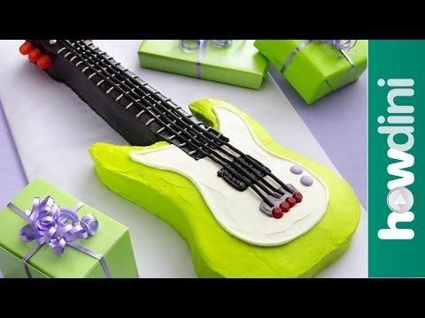 ▶ Birthday Cake Ideas: Electric Guitar Birthday Cake - YouTube
