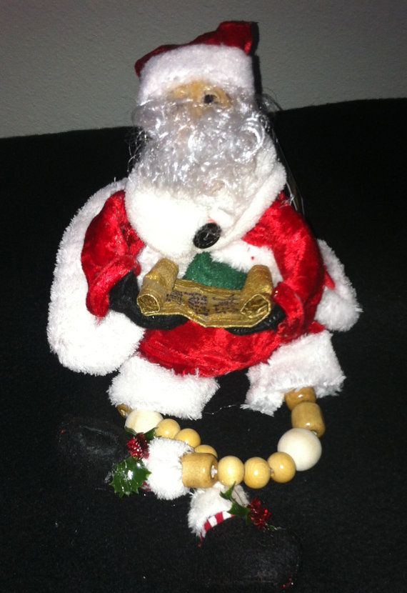 Santa Sitter with List by CandysDecor on Etsy, $45.00