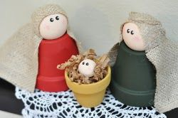 Clay Pot Nativity: Crafts Ideas, Con Macetas, Christmas Crafts, Flowers Pots, Native Scene, Pots Native, Native Crafts, Nativity, Clay Pots